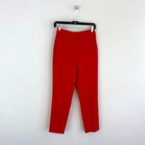 TOPSHOP Red Mid Rise Skinny Dress Pant